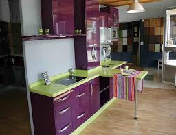 Green Kitchen Designs by Purple Kitchen With Lime Counters Home Dream House One Day
