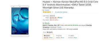 nexus 9 black friday amazon deal alert huawei u0027s new mediapad m3 tablet is already 60 off