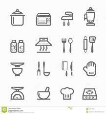 pictogramme cuisine gratuit ligne ensemble de symbole de cuisine d icône illustration de vecteur