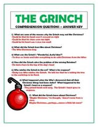 the grinch book activities for 3rd 4th u0026 5th grade