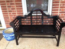 putting together a black lutyens bench at home can be a fun project