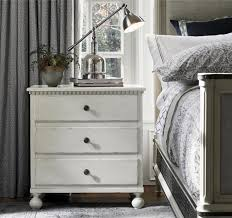 sojourn french country white 3 drawers nightstand zin home