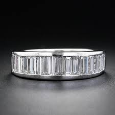 baguette wedding band platinum diamond baguette wedding band