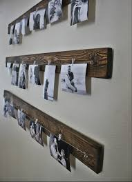 Wooden Gallery Shelf by Wall Picture Display Wall Pictures Rustic Walls And Display