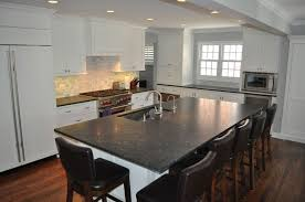 Black Countertop Kitchen Traditional Kitchen With Simple Granite Counters By Chad