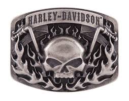 harley belt buckle harley davidson skull bars flames collector