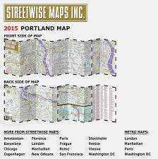 Maps Portland by Streetwise Portland Map Laminated City Center Street Map Of