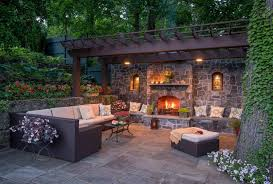 backyard living spaces perfect home hearth outdoor living with