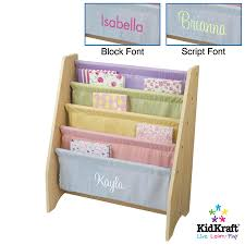 Kidcraft Bookcase Kidkraft Personalized Sling Bookshelf Pastel