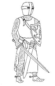 Coloriages de Chevalier  Les personnages