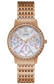 bracelet watches guess images Ladies watch guess multifunction crystals rose gold stainless jpg
