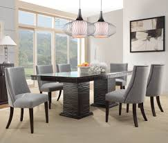 homelegance chicago 7 piece pedestal dining room set in deep