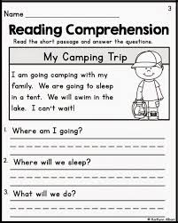 Worksheets For 6th Grade Reading Free Printable Reading Comprehension Worksheets For Kindergarten