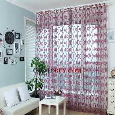 Teal Patterned Curtains Decorative Rose Red Polyester Leaf Pattern Sheer Curtains Buy