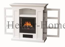 Fireplace Side Cabinets by Fp08 21 10 Wht Stonegate Electric Fireplace With Side Cabinets