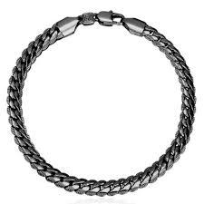 chain bracelet men images Gold color chain bracelet men jewelry gift wholesale 21cm 6mm hand jpg