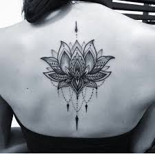 lotus on back tattoos lotus