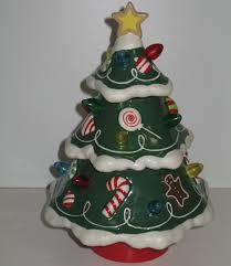 hallmark musical ceramic christmas tree rotates lights up retired
