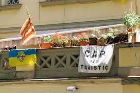 Estelada Flag Paradise Lost Barcelona Residents Push Back Against Tourism Boom