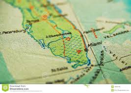 Florida Map Image by Miami Florida Map Stock Photo Image 1664740