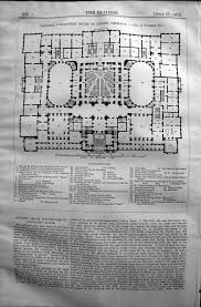 old print antique and victorian art prints paintings world maps print principal floor plan parliament house berlin germany 1872 builder 586l130 old original