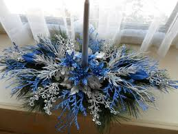 Christmas Table Decoration Ideas Blue Silver by 186 Best Christmas Blue White And Silver Images On Pinterest