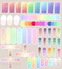 pastel colour palette by ninjahmonki on deviantart