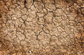 Floor Dry by Dry Red Clay Soil Texture Natural Floor Background Stock Photo