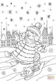peppy in january coloring page free printable coloring pages