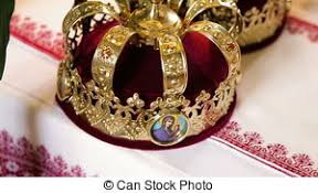 orthodox wedding crowns two orthodox wedding ceremonial crowns ready for ceremony