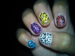 animal print easy nail art uñas de leopardo leopardo print