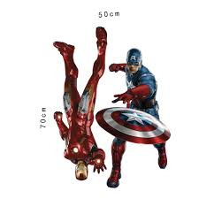 marvel u0027s the avengers iron man captain america wall sticker decals
