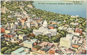 Map Of Downtown Madison Wi Aerial View Of Downtown Madison Madison Wisconsin Digital
