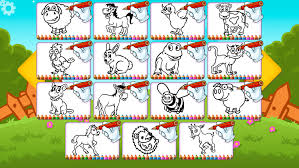 farm animals coloring book pro creative free paint color