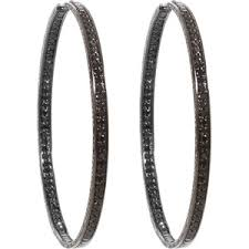 black diamond hoop earrings repossi black diamond berbere hoop earrings polyvore