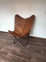 leather butterfly chair new handmade leather butterfly chair