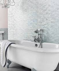 mosaic tiles in bathrooms ideas botella shimmering glacier mosaic tile topps tiles