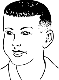 clipart short haircut combed forward
