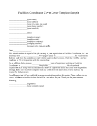 sample facility manager cover letter sample tech human resources