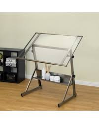 Drafting Table Designs Deal Alert Studio Designs Solano Adjustable Glass Drafting Table