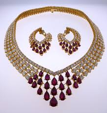 ruby necklace earrings images Bijan co JPG