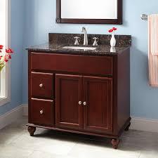 mahogany wood bathroom vanity signature hardware 36