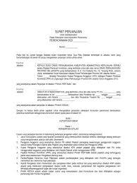 contoh kontrak perencanaan