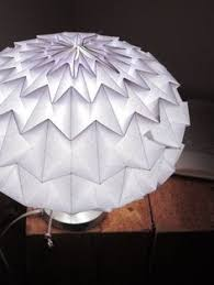 Origami Light Fixture Collapsible Papercraft Lighting Origami Papercraft And Lights