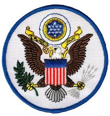 Iron On American Flag Amazon Com Great Seal United States White Embroidered Patch