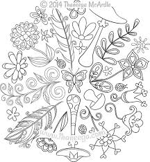 peaceful design ideas nature mandala coloring pages nature