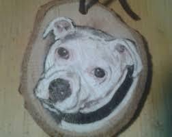 pit bull ornament etsy