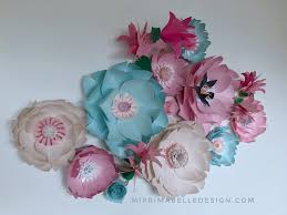 paper flower wall decor for home or business this was a custom