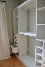 How To Make A Small Bookshelf Attach Rods To Side Of A Simple Bookshelf To Make A Closet Area In