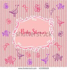 baby girl photo album baby photo album baby girl shower stock illustration 619154438